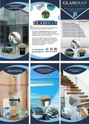 Изготовление имонтаж стеклянных конструкций!